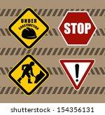 construction sign | Shutterstock .eps vector #154356131