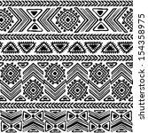 tribal  ethnic seamless  | Shutterstock .eps vector #154358975