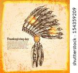 native american indian...   Shutterstock .eps vector #154359209
