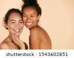 beauty. smiling women with... | Shutterstock . vector #1543602851
