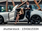beautiful young couple near... | Shutterstock . vector #1543615334