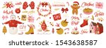 set of graphic elements for... | Shutterstock .eps vector #1543638587