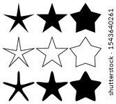 stars set isolated on white... | Shutterstock .eps vector #1543640261