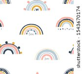 seamless childish pattern with... | Shutterstock .eps vector #1543670174