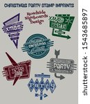 christmas party stamp imprints... | Shutterstock .eps vector #1543685897
