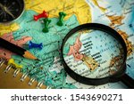 note device and magnifier...   Shutterstock . vector #1543690271