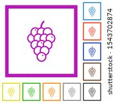 grapes flat color icons in...   Shutterstock .eps vector #1543702874