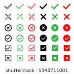 check and wrong icons set of... | Shutterstock .eps vector #1543711001