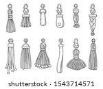 handbags accessories. leather...   Shutterstock .eps vector #1543714571