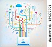 social media concept   Shutterstock .eps vector #154371701