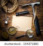 scientific expedition background | Shutterstock . vector #154371881