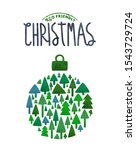 merry christmas eco friendly... | Shutterstock .eps vector #1543729724