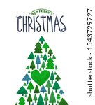 merry christmas eco friendly... | Shutterstock .eps vector #1543729727
