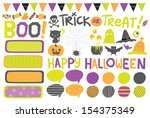 cute hand drawn vector... | Shutterstock .eps vector #154375349