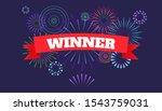 winner banner  victory poster....   Shutterstock .eps vector #1543759031