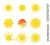 vector of variety shape sun... | Shutterstock .eps vector #1543764767