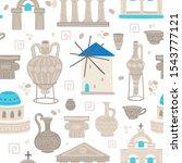 Greece Symbols Cartoon Vector...
