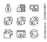 money  bold line icons. the...   Shutterstock .eps vector #1543815887