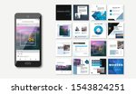 social media pack. set of... | Shutterstock .eps vector #1543824251