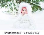 Cute Funny Little Baby Wearing...