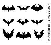 bat vector design illustration... | Shutterstock .eps vector #1543836884