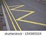 road markings indicating no... | Shutterstock . vector #154385324