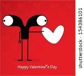cute monster with heart | Shutterstock .eps vector #154386101
