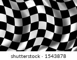 race flag waving in the wind | Shutterstock . vector #1543878