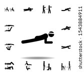 fitness  plank icon. element of ...