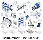 set of concrete cement... | Shutterstock .eps vector #1543886834
