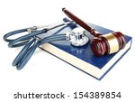 Medicine Law Concept. Gavel An...