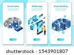 vector mobile illustration set  ...   Shutterstock .eps vector #1543901807