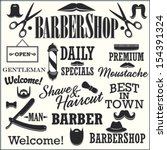barbershop retro creation kit   ... | Shutterstock .eps vector #154391324