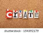 the word create in cut out... | Shutterstock . vector #154392179