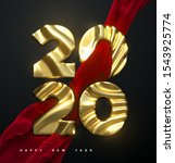 happy new year 2020. holiday... | Shutterstock .eps vector #1543925774