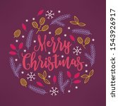 christmas greeting card with... | Shutterstock .eps vector #1543926917