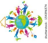vector illustration of family...   Shutterstock .eps vector #154396574