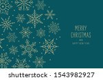 christmas snowflakes elements... | Shutterstock .eps vector #1543982927
