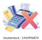 transaction failed  terminal ... | Shutterstock .eps vector #1543996874