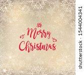merry christmas background .... | Shutterstock .eps vector #1544004341