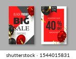 black friday sale posters. 3d... | Shutterstock .eps vector #1544015831