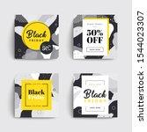 set of black friday sale social ... | Shutterstock .eps vector #1544023307