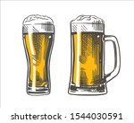 mug and glass of beer isolated...   Shutterstock .eps vector #1544030591