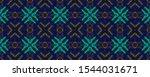 Neon Strokes. Ethnic Pattern....