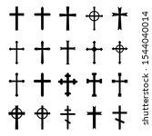 set of christian crosses.... | Shutterstock .eps vector #1544040014
