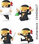 ninja customizable mascot 7   Shutterstock .eps vector #154404617