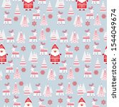 christmas pattern with stylized ... | Shutterstock .eps vector #1544049674