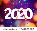 2020 new year happy eve party... | Shutterstock .eps vector #1544052587