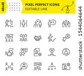 editable icons for business... | Shutterstock .eps vector #1544064644