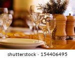 beautifully served table in a... | Shutterstock . vector #154406495